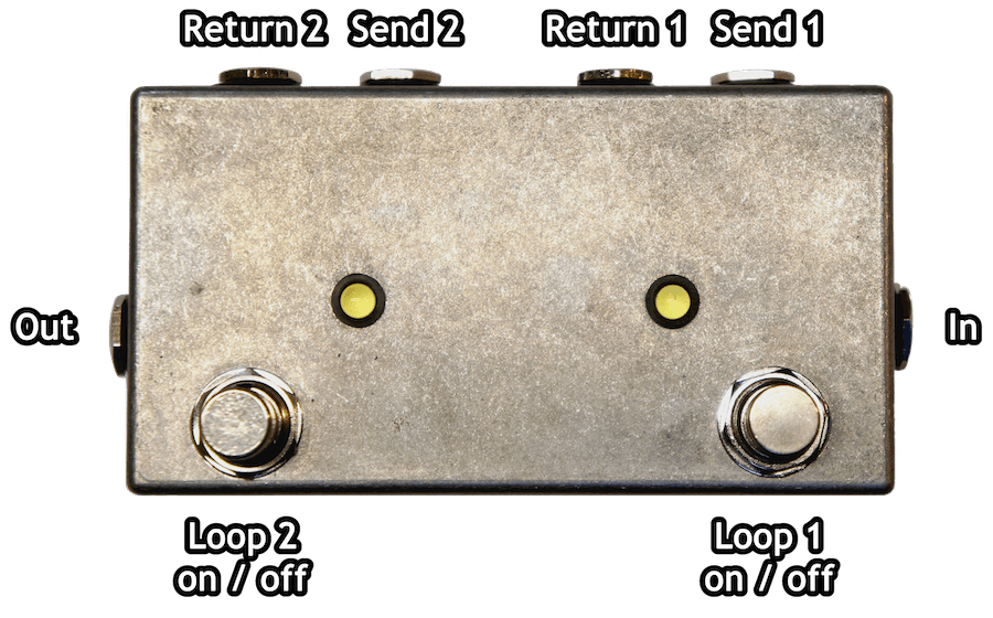 Double True Bypass Pedal Labels