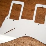 1 ply white harmony stratotone scratchplate