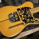 3 ply wildcat yellow prince telecaster custom pickguard