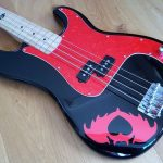 Pearl Red Pete Wentz Precision bass pickguard