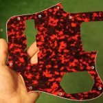 4 ply tiger red jaguar scratchplate