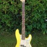 aluminium treadplate p bass pickguard