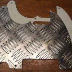 aluminium treadplate telecaster pickguard