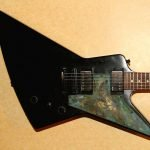Oxidised brass explorer pickguard
