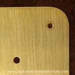brushed brass scratchplate