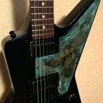 Gibson explorer oxidised brass pickguard
