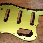 gretsch gold pickguard squier bass VI