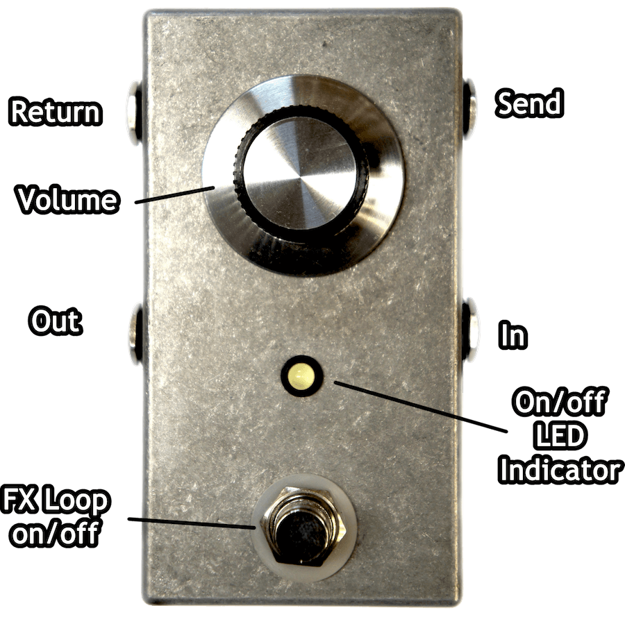 True Bypass pedal with volume control