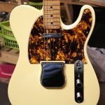 marble yellow telecaster custom scratchplate