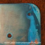 Oxidised copper scratchplate
