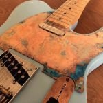 Oxidised copper telecaster scratchplate