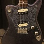 sparkling black squier supersonic pickguard