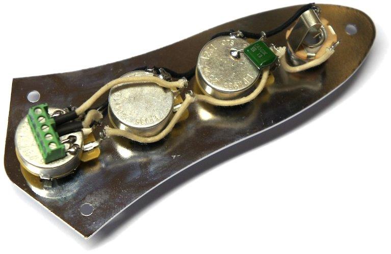 Solderless J Bass wiring harness